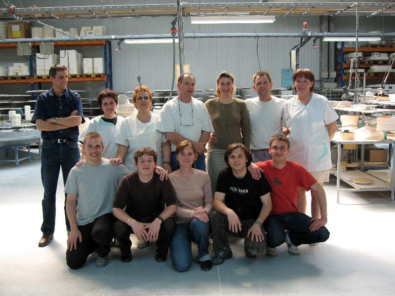 portrait de 5.5 avec les ouvriers Bernardaud