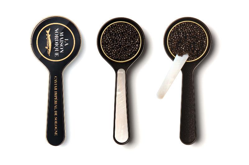 rituel de dégustation de caviar