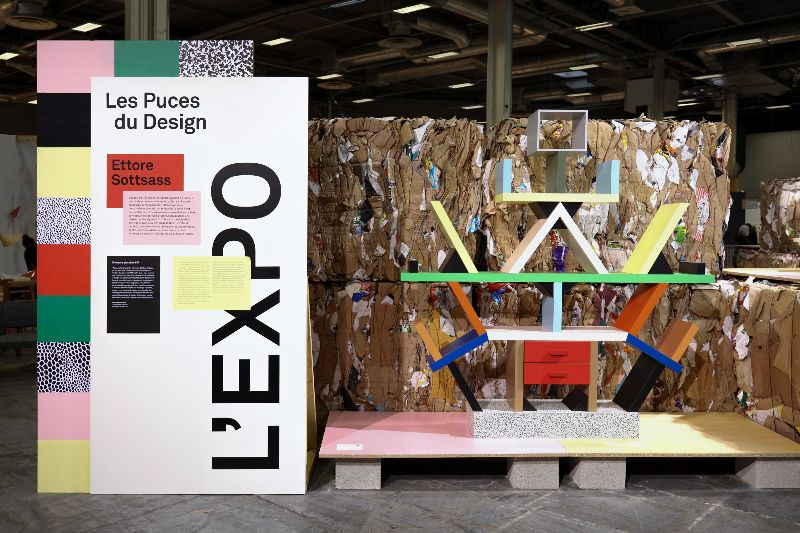 Graphic identity of les puces du design sceno art direction