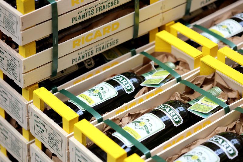 Ricard Plantes Fraîches coffrets empilés