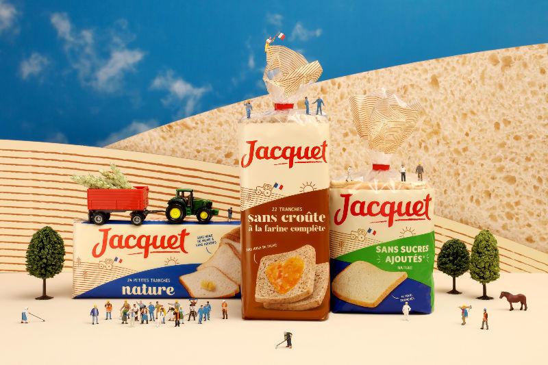 jacquet, identité de marque, pain de mie, packaging, design by 5.5, packshot, set design