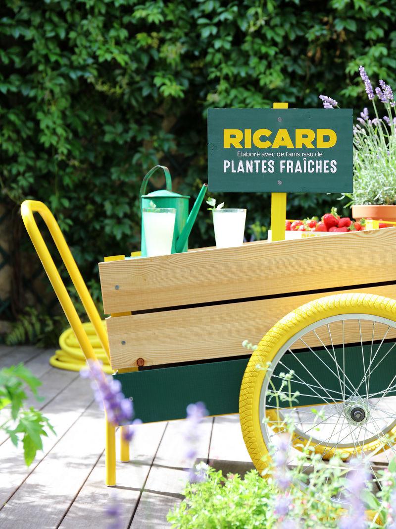 Ricard plantes fraîches pastis carriole apéritif table